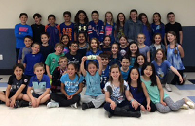 KIDS HELPING KIDS- Caring Kids Club at Purchase School Becomes Sea of Blue to Fight Pediatric Cancer