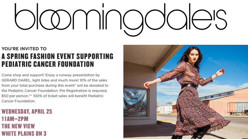 Bloomingdales Event Pediatric Cancer Foundation